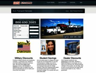 eliteautoshipping.com screenshot