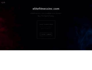 elitefitnessinc.com screenshot