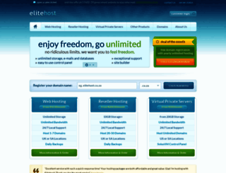 elitehost.co.za screenshot