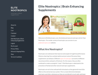 elitenootropics.com screenshot