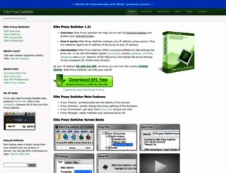 eliteproxyswitcher.com screenshot