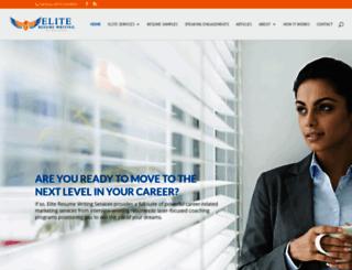 eliteresumewriting.com screenshot