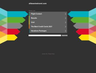 eliteseriestravel.com screenshot