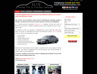 elitetaxis.com screenshot