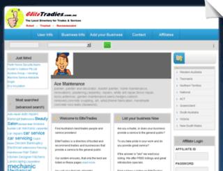 elitetradies.com.au screenshot