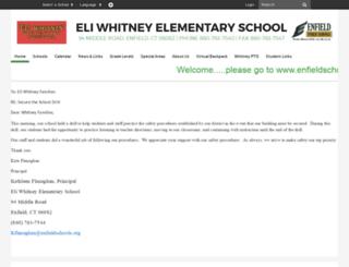 eliwhitney.sharpschool.com screenshot