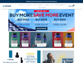 elixinol.com screenshot