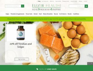 elixirhealth.co.uk screenshot