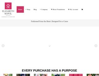 elizabethscovil.com screenshot