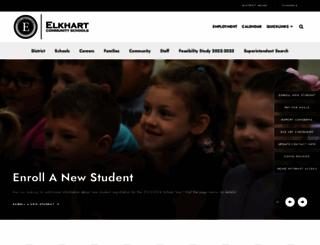 elkhart.k12.in.us screenshot