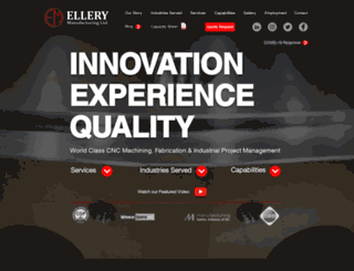 ellerymfg.com screenshot