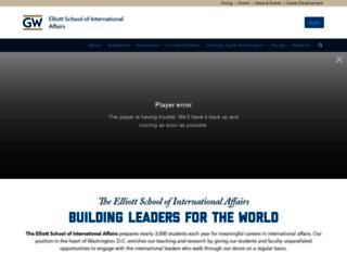 elliott.gwu.edu screenshot