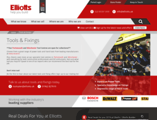 elliotts4tools.co.uk screenshot
