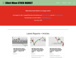 elliottwavestockmarket.com screenshot