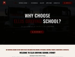 ellisdrivingschool.com.au screenshot