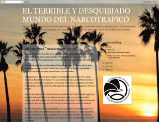 elmundodelnarcotrafico.blogspot.com screenshot
