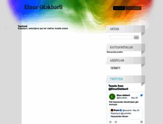 elnurelekberli.wordpress.com screenshot