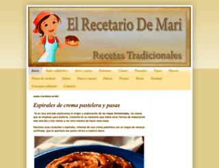 elrecetariodemari.com screenshot