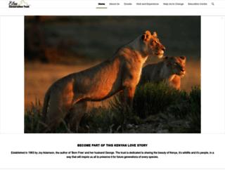 elsamere.com screenshot
