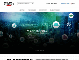 elsewedyelectric.com screenshot