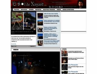 elsoldenayarit.com screenshot