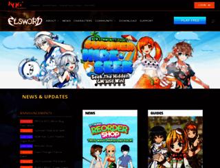 elsword.com screenshot