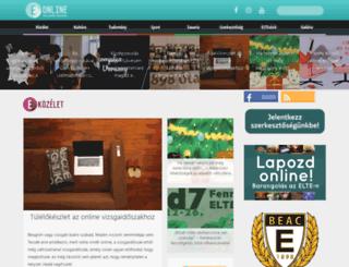 elteonline.hu screenshot