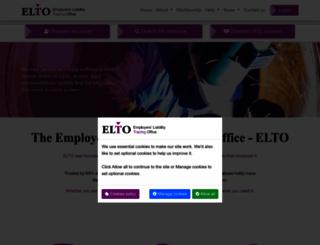 elto.org.uk screenshot