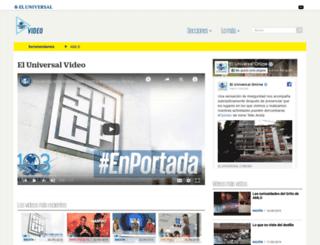 eluniversaltv.com.mx screenshot