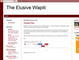 elusivewapiti.blogspot.com screenshot