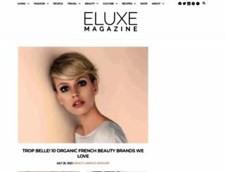 eluxemagazine.com screenshot