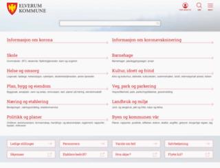 elverum.kommune.no screenshot