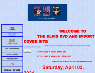 elvisdvdcovers.com screenshot