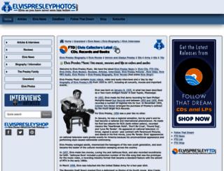elvispresleymusic.com.au screenshot