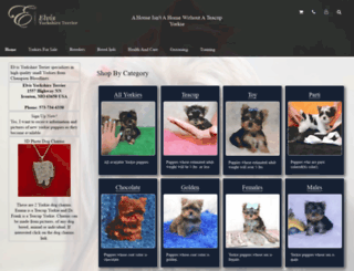 elvisyorkshireterrier.com screenshot