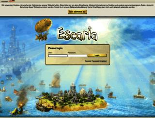 elysium.escaria.com screenshot