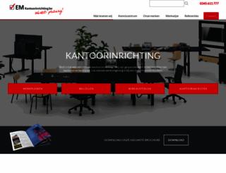 em-kantoorinrichting.nl screenshot