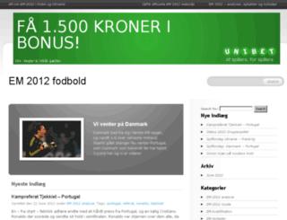 em2012.dk screenshot