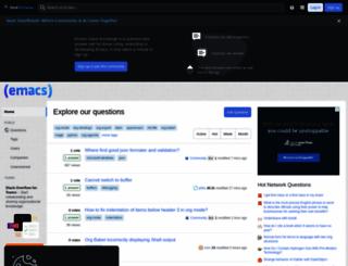 emacs.stackexchange.com screenshot