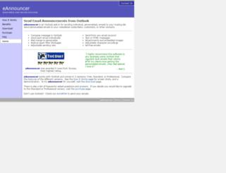 email-announcer.com screenshot