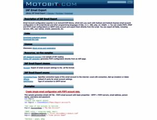 email-export.motobit.com screenshot