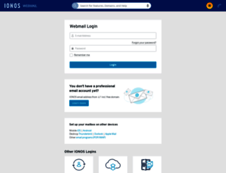 email.1and1.co.uk screenshot