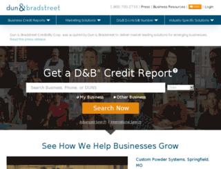email.dandb.com screenshot