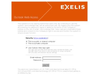 email.exelisinc.com screenshot
