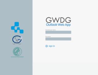 email.gwdg.de screenshot