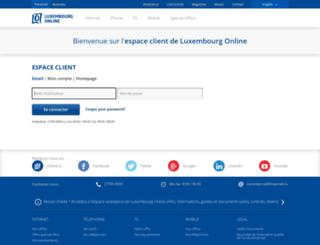 email.internet.lu screenshot