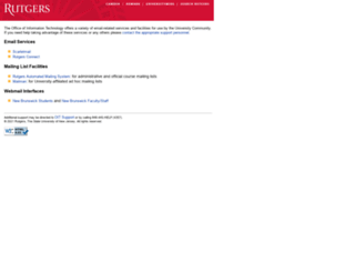 email.rutgers.edu screenshot