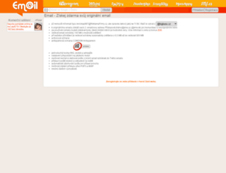 email.sms.cz screenshot