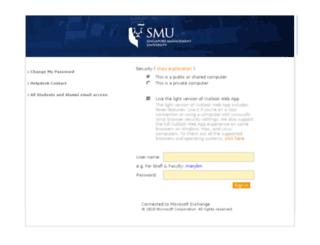 email.smu.edu.sg screenshot