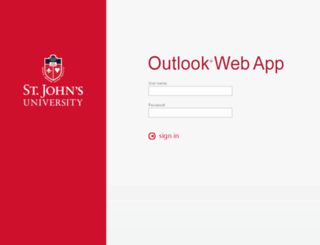 email.stjohns.edu screenshot